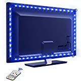 Tira LED TV 2.2M, OMERIL 5050 Tiras LED USB Impermeable con Control Remoto, 16 RGB Colores y 4...