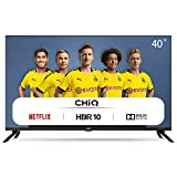 CHiQ Televisor Smart TV LED 40', Resolución FHD, HDR 10/HLG, WiFi, Bluetooth (Solo Auriculares y...