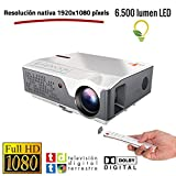 Proyector Full HD Nativo 1080P con TDT, Unicview FHD950 (1920x1080) 6.500 lúmenes LED, Proyector...